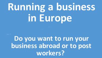 Running business a Europe