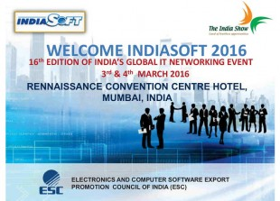 Plakat Welcome IndiaSoft 2016 wersja 2