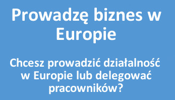 Prowadzę biznes w Europie