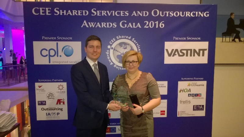 nagroda CEE Shared Services