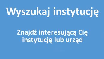 Wyszukaj instytucję