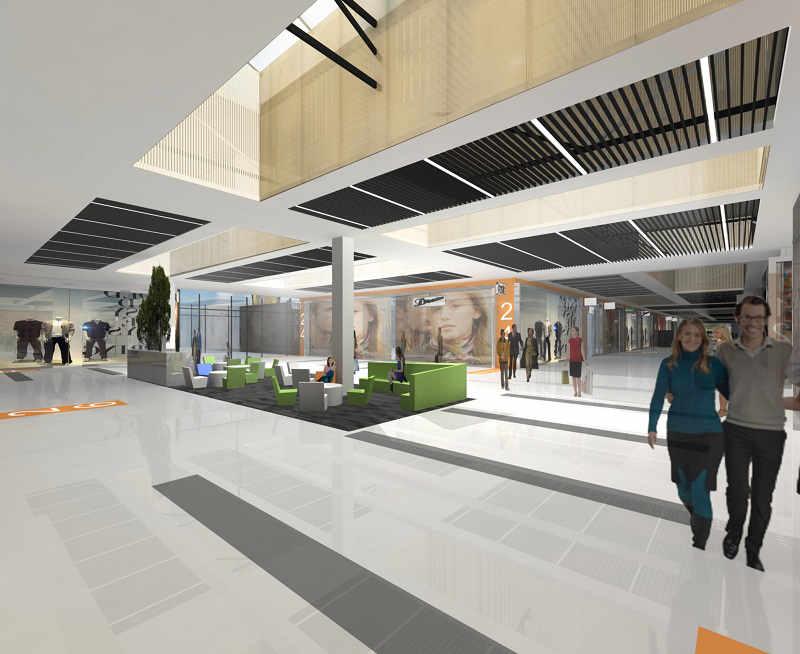 Metropolitan Outlet wnętrze - projekt