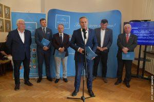 Wystąpienie prezydenta Bydgoszczy na konferencji prasowej